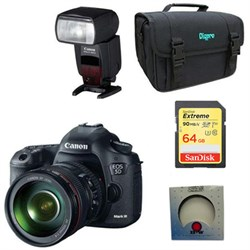 EOS 5D Mark III 22.3 MP Full Frame CMOS Digital SLR w/ 24-105mm Lens Pro Bundle