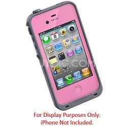 Waterproof Shockproof and Dirtproof iPhone Case for the iPhone 4S/4 - Pink