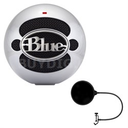 Snowball USB Microphone w/ Pop Shield Wind Screen