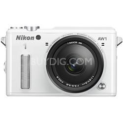 1 AW1 14.2MP Waterproof Shockproof Digital Camera w/ AW 11-27.5mm - White