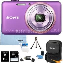 "DSC-WX70/V - 16.2MP Exmor R CMOS Camera 3"" LCD 5x Zoom (Violet) 8GB Bundle"