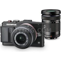 E-PL6 Mirrorless Digital Camera with 14-42mm, 40-150mm Lenses, 8GB FlashAir Card