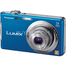 Lumix DMC-FH2 14MP Blue Compact Digital Camera w/ 720p 30 fps HD Video