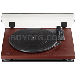 TN-100 Belt-Drive Turntable with Preamp & USB Digital Output - Cherry Finish