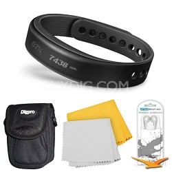 vivosmart Bluetooth Fitness Band Activity Tracker - Small - Black Bundle