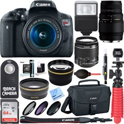 EOS Rebel T6i DSLR Camera with EF-S 18-55mm IS STM & 70-300mm Lens Accessory Kit