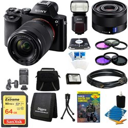 Alpha 7K a7K Digital Camera, 35mm Full Frame Lens and HVL-F60M Flash Bundle