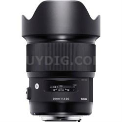 20mm F1.4 Art DG HSM Wide Angle Lens for Canon Full-frame DSLR Cameras - 412-954