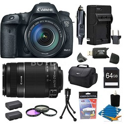 EOS 7D Mark II DSLR Camera with 18-135mm IS STM and 55-250mm IS Lens 64GB Bundle