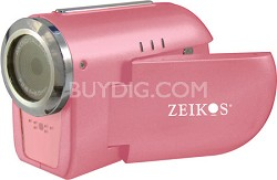 "SDCZ10 3-in-1 Camcorder, Digital Camera and WebCam with 1.5"" Preview LCD - Pink"
