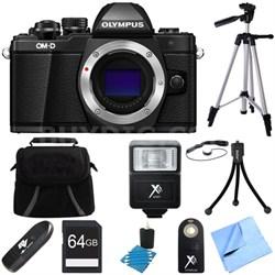 OM-D E-M10 Mark II Mirrorless Micro Four Thirds Digital Camera Black 64GB Bundle