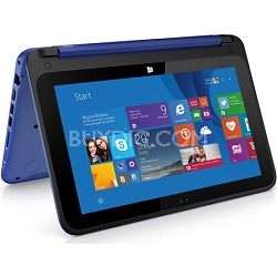 "HP Stream 11-p010nr x360 Convertible 11.6"" HD Touchscreen Tablet PC - Blue"