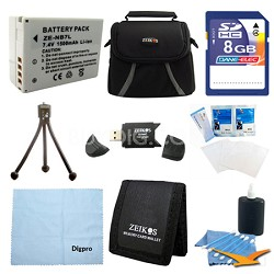 Fully Loaded Value 8GB Card and BP-7L Battery Kit for Canon Powershot G12 & SX30