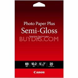"Photo Paper Plus Semi-Gloss 5"" x 7"" (20 Sheets) ( SG-201 5X7) (1686B061)"