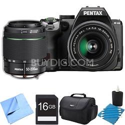 K-S2 20MP DSLR Camera Two Lens Kit w/ 18-50mm WR & 50-200mm WR 16GB Bundle
