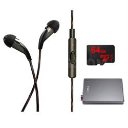 X20i Earbuds w/ Mic & Playlist Control w/ Apple Controls - Fiio A5 AMP Bundle