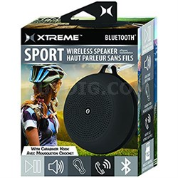 Sport Wireless Bluetooth Speaker with Carabiner Hook - Black (XBS9-1009-BLK)