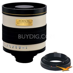 800mm F8.0 Mirror Lens for Pentax (White Body) - 800M