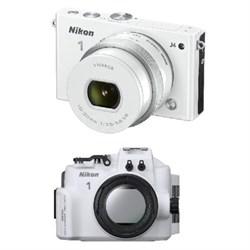 1 J4 Digital Camera with10-30mm Lens (White) Factory Refurbished - Dive Kit
