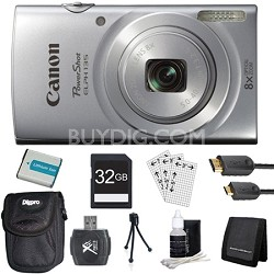 PowerShot ELPH 135 16MP 8x Optical Zoom Digital Camera Silver Kit