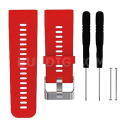 Silicone Band Strap + Tools for Garmin Vivoactive HR Sport Watch (Red)