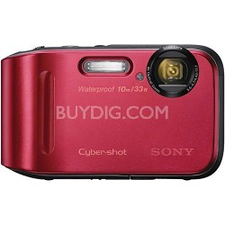 Cyber-shot DSC-TF1 16 MP Water Shock and Freezeproof Digital Camera - Red