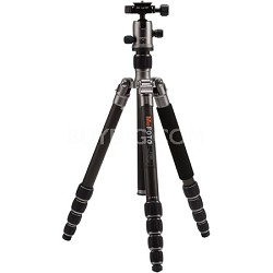 C1350Q1T Roadtrip Carbon Fiber Travel Tripod Kit - Titanium