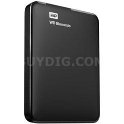 750 GB WD Elements Portable USB 3.0 Hard Drive Storage - OPEN BOX
