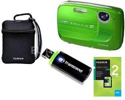 FINEPIX Z37 10MP Green Digital Camera & 2GB Memory, Reader and Case