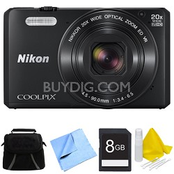 COOLPIX S7000 16MP 1080p HD Video Wi-Fi Digital Camera - Black Bundle