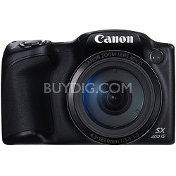 Powershot SX400 IS 16MP 30x Optical Zoom 720p HD Digital Camera - Black