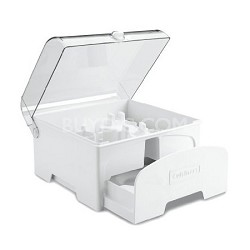Elite Collection Accessory Storage Case for 12-Cup Food Processors, White