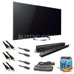 XBR-55X850A 55-Inch 4K Ultra HD 120Hz 3D LED HDTV Sound bar Bundle