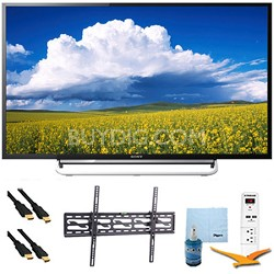 "60"" 1080p LED Smart HDTV Motionflow XR 480 Tilt Mount & HookUp Bundle KDL60W630B"