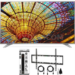 65UH6550 65-Inch 4K UHD Smart TV w/ webOS 3.0 Flat Wall Mount Bundle