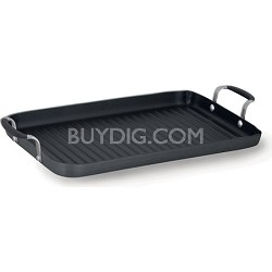 """Simply Nonstick 18 x 12"""" Double Burner Grill Pan"""