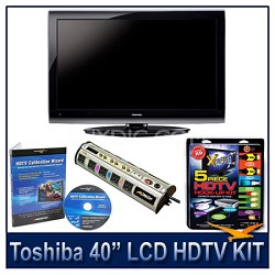 "40E200U 40"" 1080p LCD HDTV + Hook-Up + Power Protection + Calibration DVD"