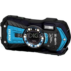 Optio  WG-2 Azure Blue Waterproof Shockproof Coldproof 16 MP Digital Camera