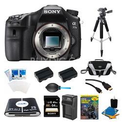 a77II HD DSLR Camera, 64GB Card, and 2 Battery Bundle