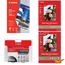 Pro 9000 Ink & Paper Kit (8 Ink Cartridges and 3 Packs of Paper)