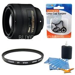 85mm f/1.8G AF-S Nikkor Lens w/ UV Filter, Lens Cap Keeper & Cleaning Kit