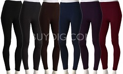 3-Pack Fleece Leggings Variety Colors Pack 1X/2X