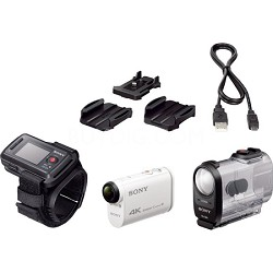 FDR-X1000VR/W 4K Action Cam and LiveView Remote Kit