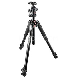 MK055XPRO3-BH 055 Kit Aluminium 3-Section Horizontal Column Tripod w/ Ball Head