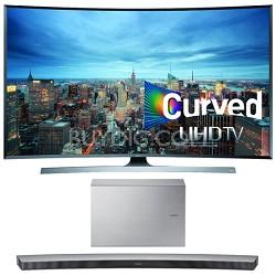 UN65JU7500 - 65-Inch 2160p 3D Curved 4K UHD Smart TV w/ HW-J7501 Soundbar Bundle