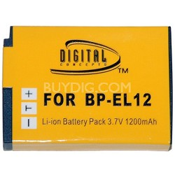 BP-EL12 - 1200mAh Ultra Compact Lithium Replacement Battery for Nikon EN-EL12