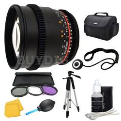 85mm T1.5 Aspherical Cine Lens and Filter Kit Bundle for Nikon Mount