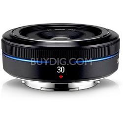30mm f/2.0 NX Pancake lens for NX Series Cameras - Black