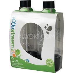 1L Carbonating Bottles Black (Twinpack)