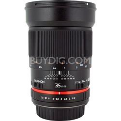 35mm f1.4 Photo Lens for Sony E-Mount